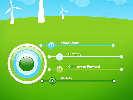 Wind Farm Illustrative PowerPoint Template, Slide 3, 13481, Nature & Environment — PoweredTemplate.com