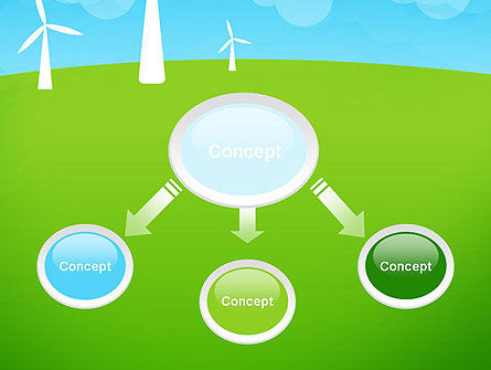 Wind Farm Illustrative PowerPoint Template, Slide 4, 13481, Nature & Environment — PoweredTemplate.com