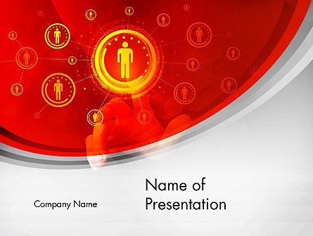 Careers/Industry: Creating People Network PowerPoint Template #13482