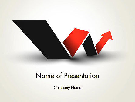 Business Concepts: Rising Arrow Shaped Like Letter W PowerPoint Template #13483