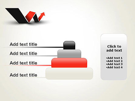 Rising Arrow Shaped Like Letter W PowerPoint Template Slide 8