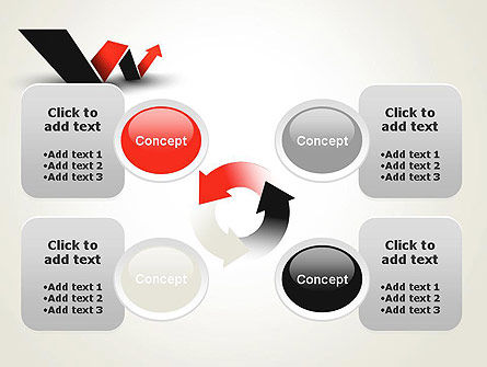 Rising Arrow Shaped Like Letter W PowerPoint Template Slide 9