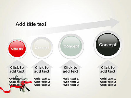 Fork Knife and Spoon Tied Up With Red Ribbon PowerPoint Template Slide 13