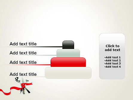 Fork Knife and Spoon Tied Up With Red Ribbon PowerPoint Template Slide 8