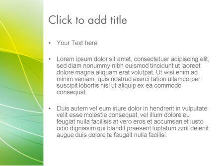 Green Abstract Grass PowerPoint Template, Slide 3, 13485, Abstract/Textures — PoweredTemplate.com