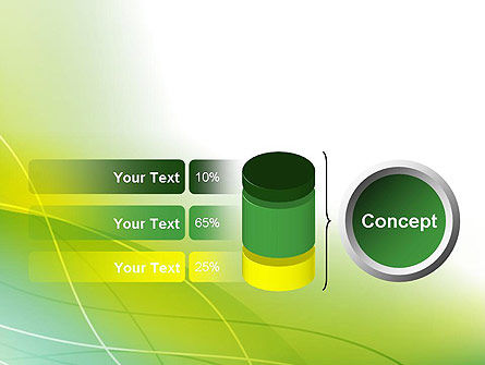 Green Abstract Grass PowerPoint Template Slide 11
