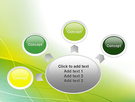 Green Abstract Grass PowerPoint Template Slide 7