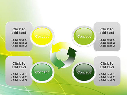 Green Abstract Grass PowerPoint Template Slide 9