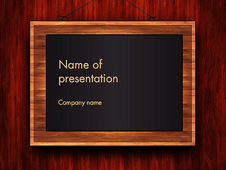 Blackboard Wooden Menu PowerPoint Template