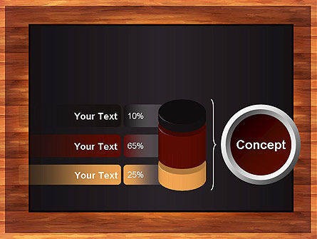 Blackboard Wooden Menu PowerPoint Template Slide 11