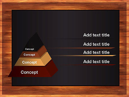 Blackboard Wooden Menu PowerPoint Template Slide 12