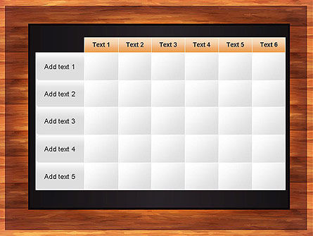 Blackboard Wooden Menu PowerPoint Template Slide 15