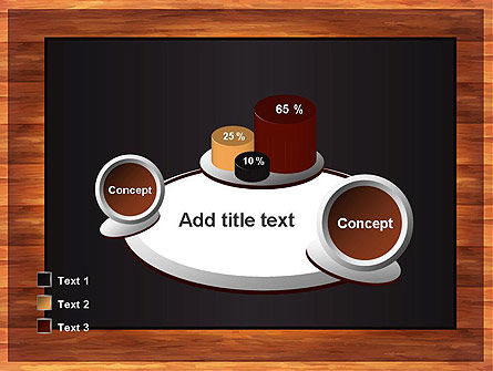 Blackboard Wooden Menu PowerPoint Template Slide 16