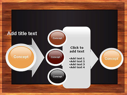 Blackboard Wooden Menu PowerPoint Template Slide 17