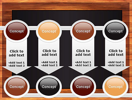Blackboard Wooden Menu PowerPoint Template Slide 18