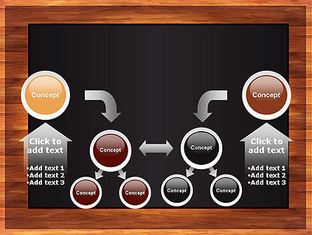 Blackboard Wooden Menu PowerPoint Template Slide 19