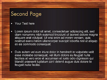 Blackboard Wooden Menu PowerPoint Template Slide 2