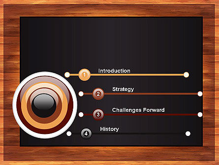 Blackboard Wooden Menu PowerPoint Template Slide 3