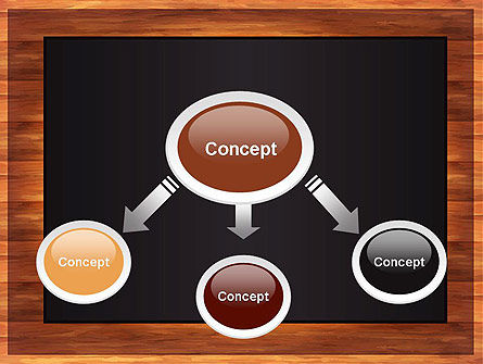 Blackboard Wooden Menu PowerPoint Template Slide 4