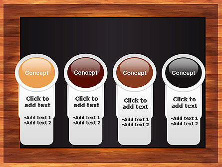 Blackboard Wooden Menu PowerPoint Template Slide 5
