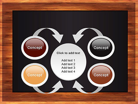 Blackboard Wooden Menu PowerPoint Template Slide 6