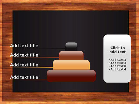 Blackboard Wooden Menu PowerPoint Template Slide 8
