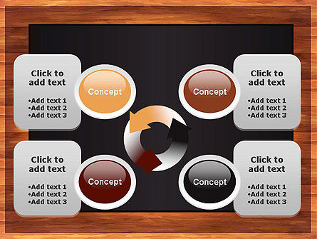 Blackboard Wooden Menu PowerPoint Template Slide 9