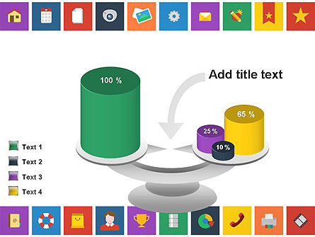 Scattering of Flat Design Icons PowerPoint Template Slide 10