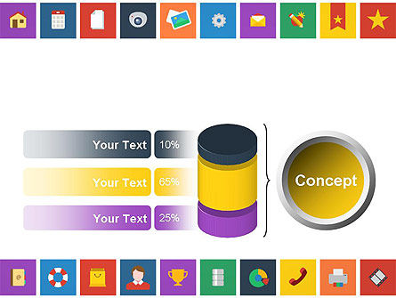Scattering of Flat Design Icons PowerPoint Template Slide 11