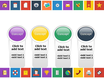 Scattering of Flat Design Icons PowerPoint Template Slide 5