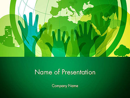 Save The Planet PowerPoint Template, 13497, Nature & Environment — PoweredTemplate.com