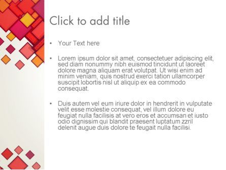 Multicolor Square Elements PowerPoint Template, Slide 3, 13498, Abstract/Textures — PoweredTemplate.com