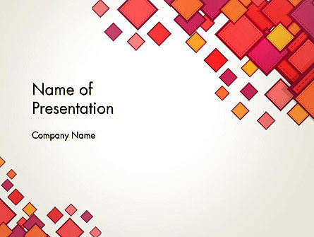 Multicolor Square Elements PowerPoint Template, 13498, Abstract/Textures — PoweredTemplate.com