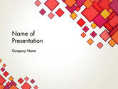 Abstract/Textures: Multicolor Square Elements PowerPoint Template #13498