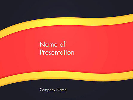 Striped Wave PowerPoint Template