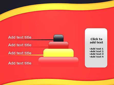 Striped Wave PowerPoint Template Slide 8