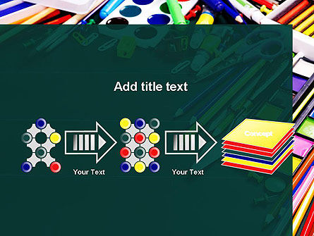 School Office Supplies PowerPoint Template Slide 9