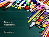 Careers/Industry: School Office Supplies PowerPoint Template #13502