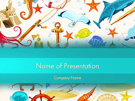 Holiday/Special Occasion: Marine Thema PowerPoint Template #13506