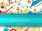 Holiday/Special Occasion: Marine themed PowerPoint Vorlage #13506