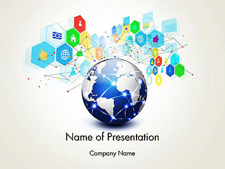 Global Application Network PowerPoint Template, 13507, Technology and Science — PoweredTemplate.com