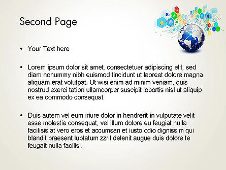 Global Application Network PowerPoint Template, Slide 2, 13507, Technology and Science — PoweredTemplate.com