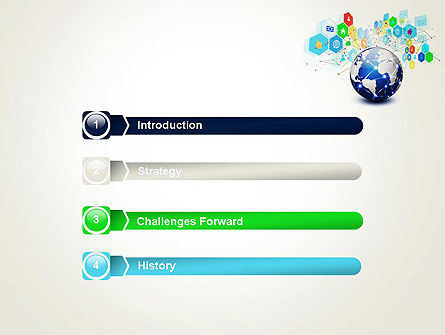 Global Application Network PowerPoint Template, Slide 3, 13507, Technology and Science — PoweredTemplate.com