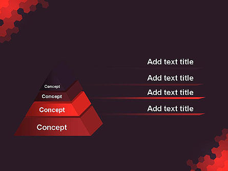 Connected Hexagons Abstract PowerPoint Template Slide 12