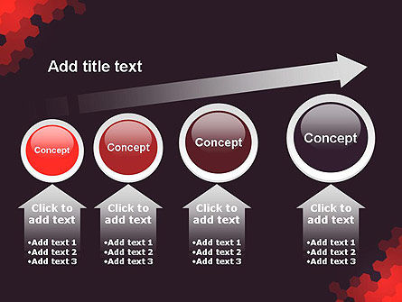 Connected Hexagons Abstract PowerPoint Template Slide 13