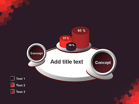 Connected Hexagons Abstract PowerPoint Template Slide 16