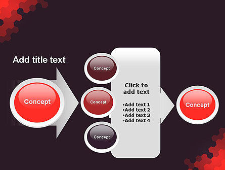Connected Hexagons Abstract PowerPoint Template Slide 17
