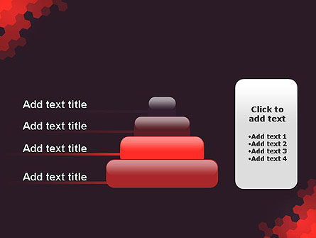 Connected Hexagons Abstract PowerPoint Template Slide 8