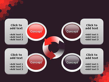 Connected Hexagons Abstract PowerPoint Template Slide 9