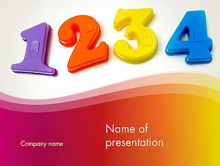 teach your child numbers powerpoint template backgrounds 13509